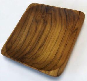 New Handmade Teak Wood Square Dish Plate Hand craft Natural Board