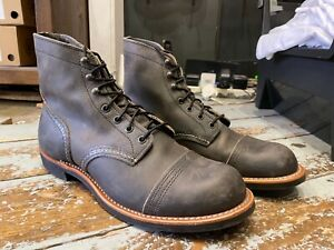 Red Wing Boots, Iron Ranger, Charcoal Rough & Tough , Size UK 9 , Made in U.S.A