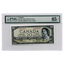 Bank of Canada Devils Face Coyne/Towers $20 1954  BC-33a PMG 65EPQ
