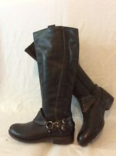 Geox Black Knee High Leather Boots Size 37