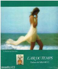 PUBLICITE ADVERTISING 095  1976   NINA RICCI  parfum AIR DU TEMPS D. HAMILTON