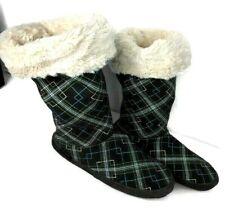 The Original Muk Luks Gray Faux Fur Sweater Slippers Socks Boots XL 9.5-10.5