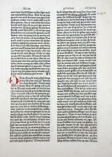 BIBLIA GERMANICA INKUNABELBLATT 8. DEUTSCHE BIBEL VOR LUTHER SORG AUGSBURG 1480