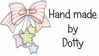 65 Personalised Mini Address labels Handmade etc -  Pink Bow with Stars