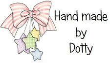 Personalised Mini Stickers labels x 65 - Handmade by -  Pink Bow with Stars