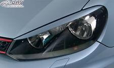 RDX Scheinwerferblenden VW Golf 6 VI Böser Blick Blenden Spoiler Tuning