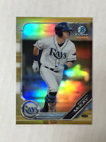 BRENDAN McKAY 2019 Bowman Chrome GOLD SP RC 22/50 REFRACTOR! #BCP-239! RAYS! HOT