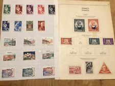 Monaco 1946 - mounted mint & used  stamp album page  Ref 57748
