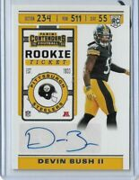 2019 Panini Contenders football Rookie Ticket auto Devin Bush Pittsburgh Steeler