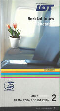 LOT Polish Airlines system timetable 3/28/04 [6112]