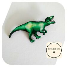 Dinosaur Wooden Brooch🦖wooden 💛 Handmade ✨large