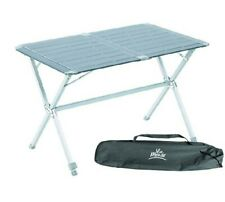 Via Mondo Medium Slatted Folding Camping Table with Adjustable Leg & bag