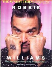 ROBBIE WILLIAMS - Cover & Photo Feature in UK Sunday Times Magazine, Sept 2017