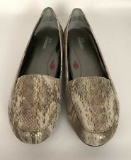08f5a41af34 Ros Hommerson Regan Gold Multi-Color Snake Print Leather Loafers Shoes Sz  8.5 WW