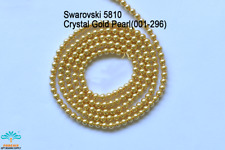 25 Beads Swarovski #5810 Crystal Bright Gold Pearl 001-296