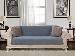 Chiara Rose Couch Covers for Dogs Sofa Cushion Slipcover 3 Seater Furniture Grey