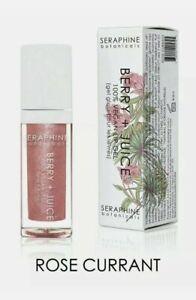 """Seraphine Botanicals Berry + Juice 100% Vegan Lip Gel """"ROSE CURRANT"""" 6mL"""