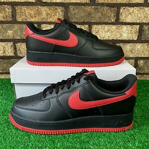 🔥 Nike Air Force 1 Low (Size 10.5) DC2911-001 'BRED' Black/Red AF1 Sneakers 🔥