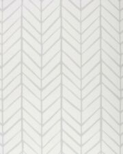 New double roll - SERENA & LILY Feather Wallpaper - Fog gray - Chevron