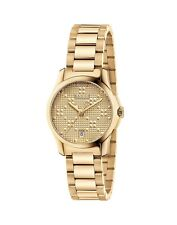 817160fb9b6c02 New Gucci G-Timeless Gold-Tone Stainless Steel Bracelet Women s Watch  YA126553