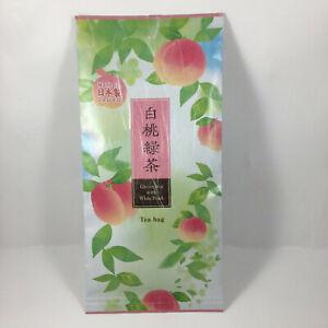 Japanese TA-FU Brand Premium Green Tea with White Peach Tea Bags, Made in Japan