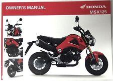 Manual de Usuario Owner's Manual Honda MSX 125 00X32-K26-B000