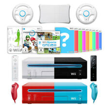 Nintendo Wii Konsole + Mario Kart+ 2 Remotes + 2 Nunchuks + 2 Lenkräder