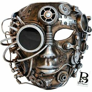 Steampunk Terminator Masquerade Mask Mad Max Cosplay Halloween Costume Party