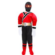 Vestito Costume Power Samurai Rosso 4/5 anni Carnevale Pegasus Party Ranger