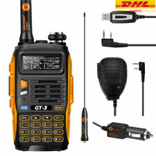 DE Baofeng GT-3 Mark II UHF/VHF 2m/70cm Hand-Funkgerät mit Lautsprecher + Kabel