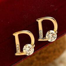 FashionWomenEarringsWeddingJewelry Special Letter D StyleCrystal Earrings