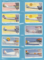 AVIATION - LAMBERT & BUTLER  -  SET  OF  50  AEROPLANE  MARKINGS  CARDS  -  1937