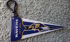 "NFL Football Baltimore Ravens 4"" Felt Pennant w/ 1.5"" Plastic Clip Souvenir"