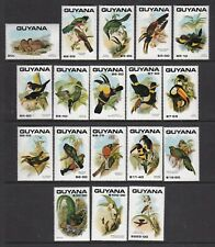 GUYANA 1990 BIRDS PART SET NEVER HINGED MINT