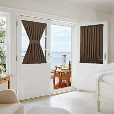 Thermal Insulated Blackout Curtain Panel French Door Window Drape Patio 54Wx40L