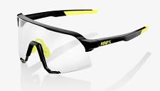100% S3 Sunglasses -NEW- Photochromic Lens + Case + Bonus Clear Lens