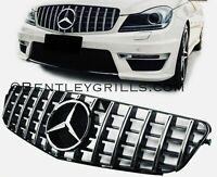 Mercedes C Class W204 AMG Grille Panamericana GT Look Black And Chrome Grill