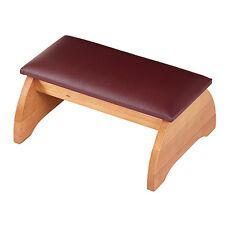 Personal Kneeler - Pecan Finish -- Maple Hardwood with PVC Cover Foam Pad