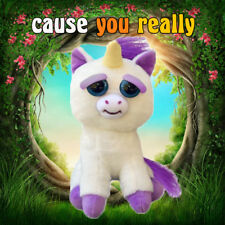 Unicorn Glenda Glitterpoop Feisty Pets Funny Expression Stuffed Doll Animal Toys