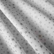 Stoff Meterware Baumwolle Baumwollstoff weiß silber Sterne klein Weihnachten Neu