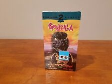 VHS DOUBLE FEATURE GODZILLA VS. MEGALON & KING OF THE MONSTERS  *NEW IN PLASTIC*