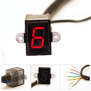 LED Motorcycle Gear Indicator N-6 Speed Shift Clutch Lever Gauge Part Universal