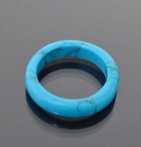 Anello IN Turchese Imitazione Anello Turchese Anello Dito Donne 6mm Blu