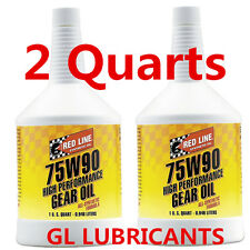 2 x Redline 75W90 GL-5 Gear Oil 1-Quart
