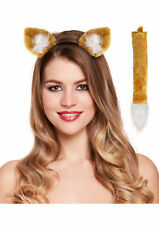 Deluxe Mr Fox Ears Tail 2 Pcs Set School Book Week Fancy Dress Costume Accessory