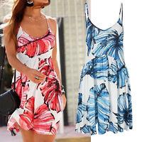 genial mini Kleid Muster blau weiß Gr.42 XL Strandkleid Sommerkleid Jersey