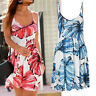 genial mini Kleid Muster blau weiß Gr.36 S Strandkleid Sommerkleid Jersey