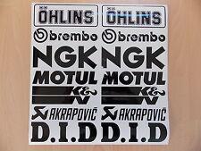 14 x Sponsoren Aufkleber Set 2x7 Stück - Motorrad-Auto - 16cm Breit - Sticker