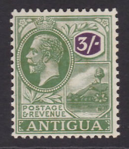 Antigua. 1922. SG 79, 3/- green & violet. Unmounted mint.