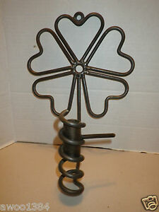 Primitive Metal Lucky Four Leaf Metal Wall Sconce Adjustable Candle Holder
